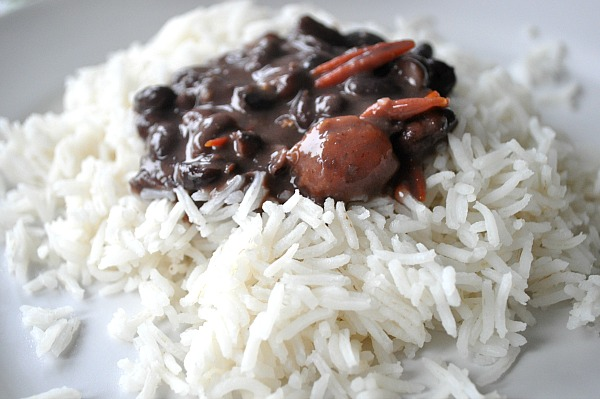 Moros y Cristianos Rice, a cuban inspired recipe.