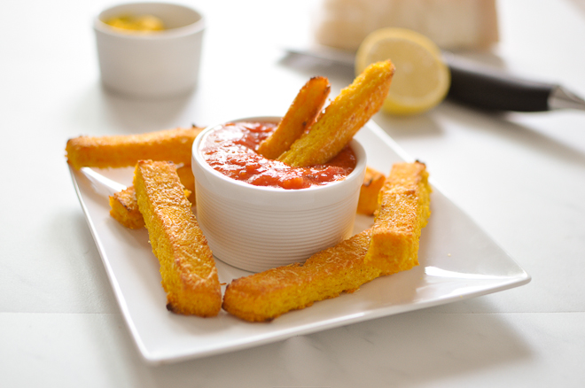 Baked Parmesan Polenta Fries - Food Recipes HQ